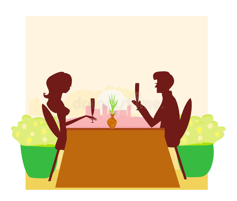 Young Couple Flirt And Drink Champagne Royalty Free Stock Photo