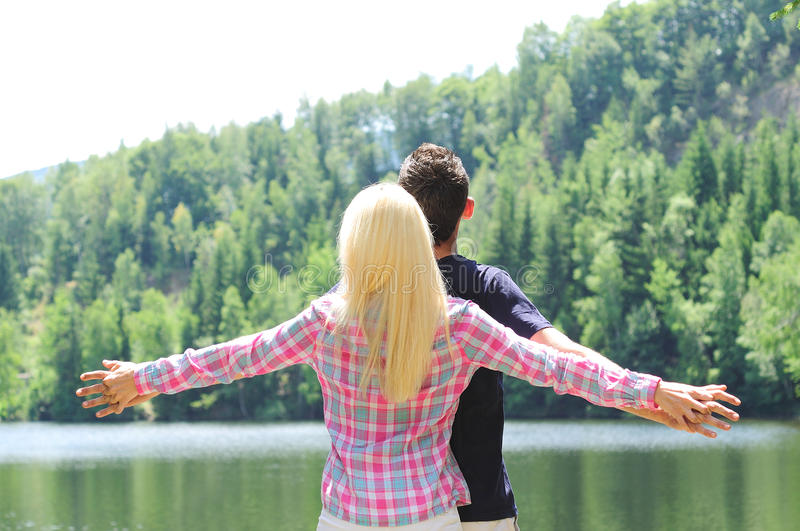 Download Young couple freedom stock image. Image of excitement - 25800953
