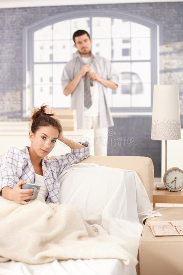 Download Young Couple Getting Ready In The Morning Stock Photo - Image: 22047486