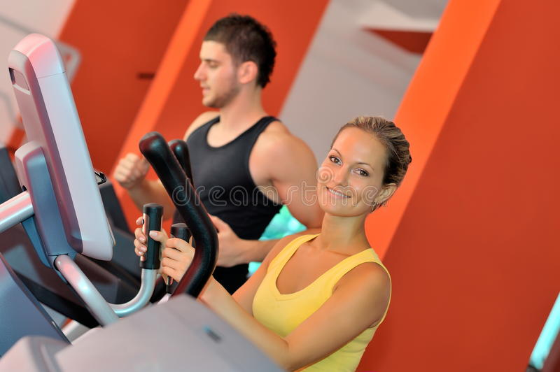 Download Young couple in the gym stock photo. Image of lifestyle - 12813068