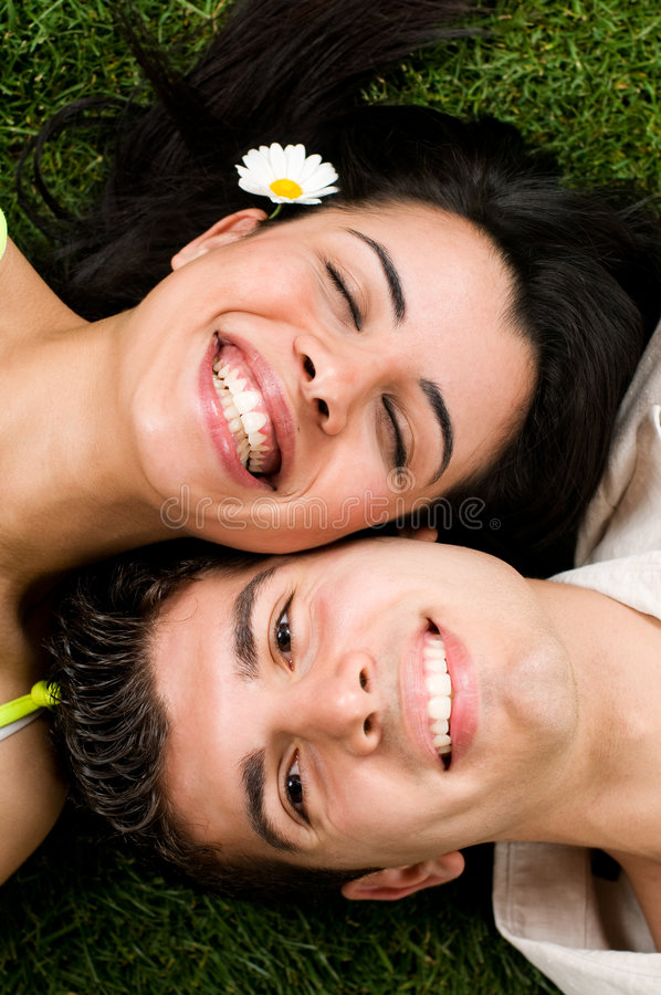 Young couple have fun stock image