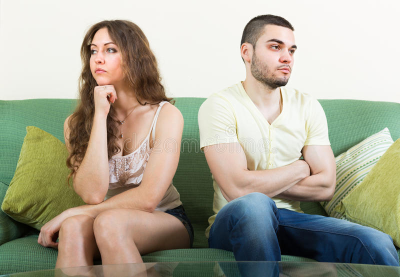 Download Young Couple Having Conflict At Home Stock Photo - Image: 43692255