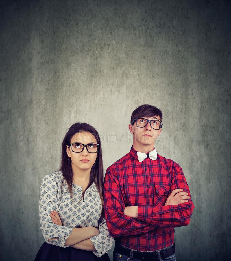 Young couple having disagreement in relationship royalty free stock photography
