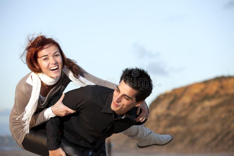 Young couple having fun stock photos