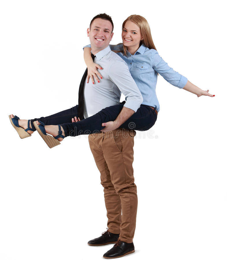 Download Young couple having fun stock photo. Image of piggyback - 24312796