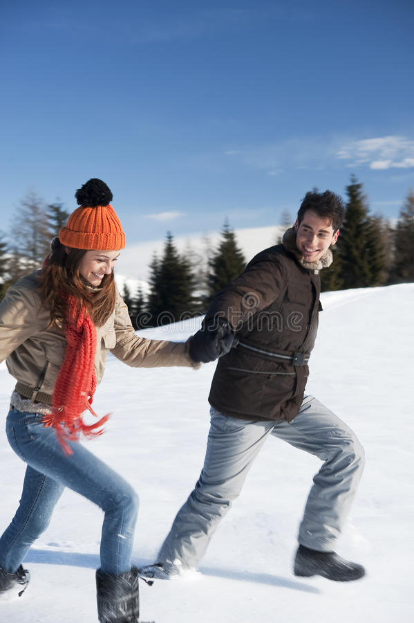 Young Couple Having Fun Stock Images