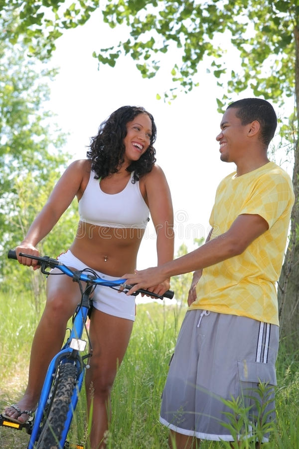 A Young Couple Having Fun Outdoor