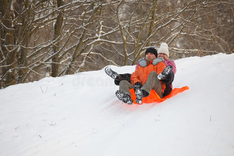 Download Young Couple Having Fun In Snow Stock Image - Image: 12438213