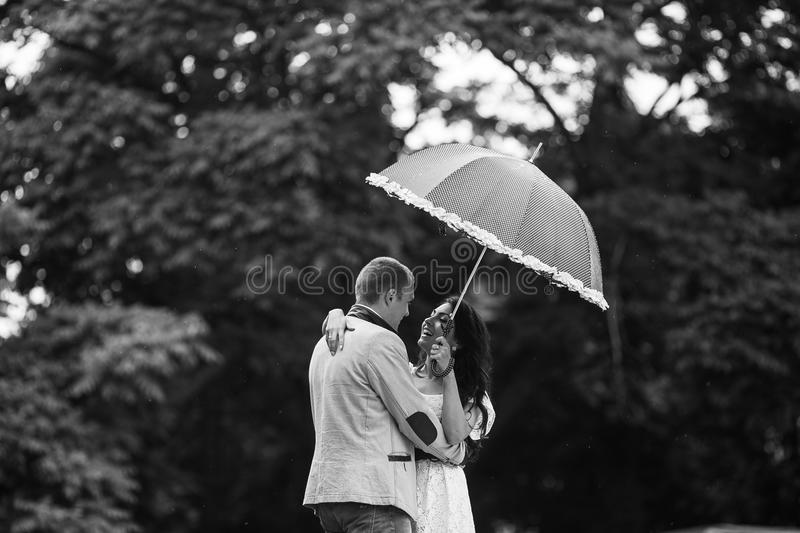 Young couple having a great time royalty free stock photos