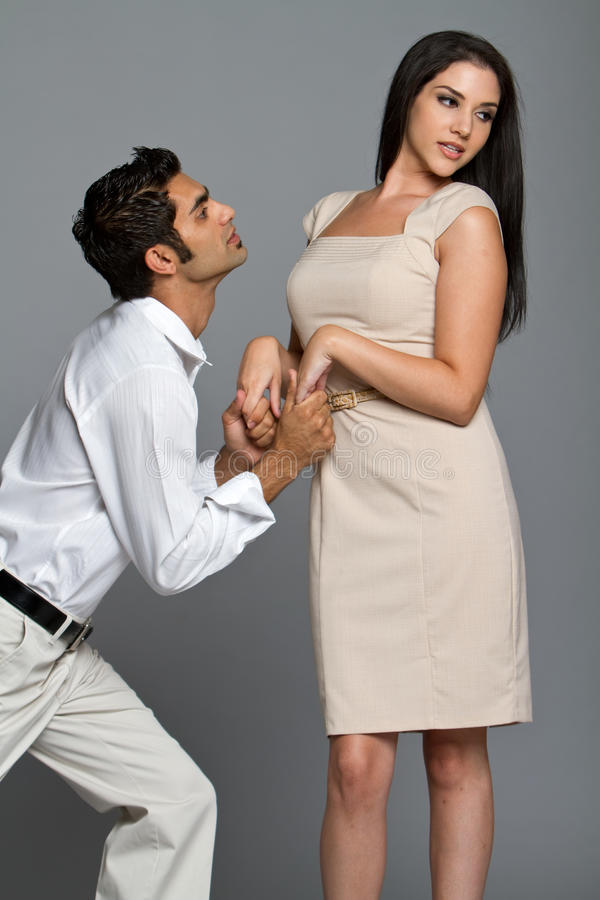 Young couple having problems royalty free stock image