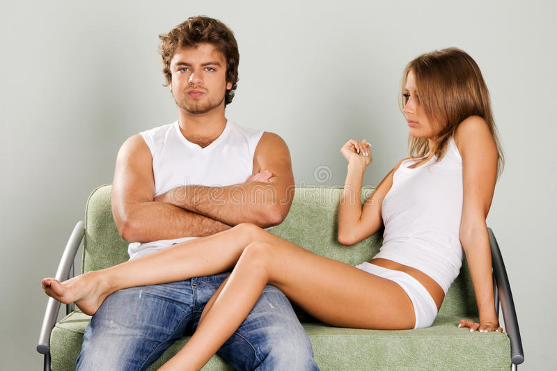 Download Young Couple Having A Quarrel Stock Photo - Image: 12617944