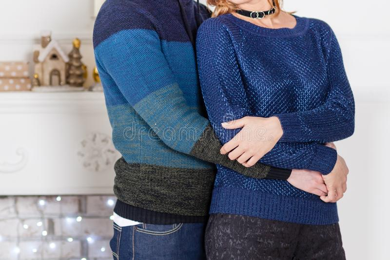 Young couple hold together stock photography