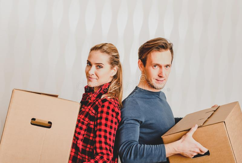 Moving to new house royalty free stock images