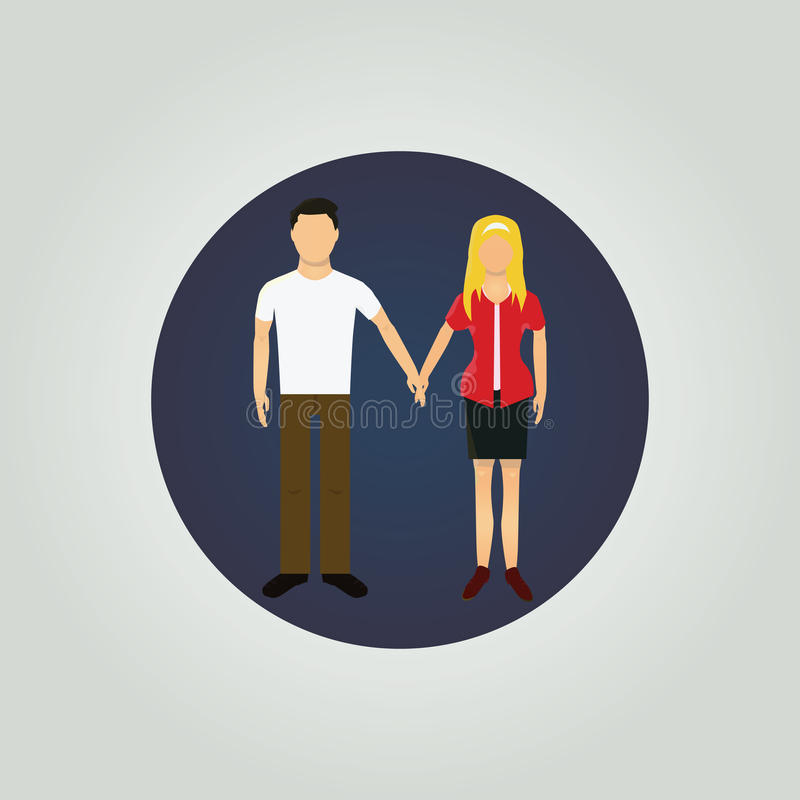 Free Young Couple Holding Hands. Stock Image - 50754581