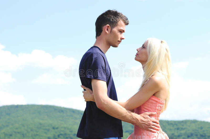 Young Couple Hugging Royalty Free Stock Photography