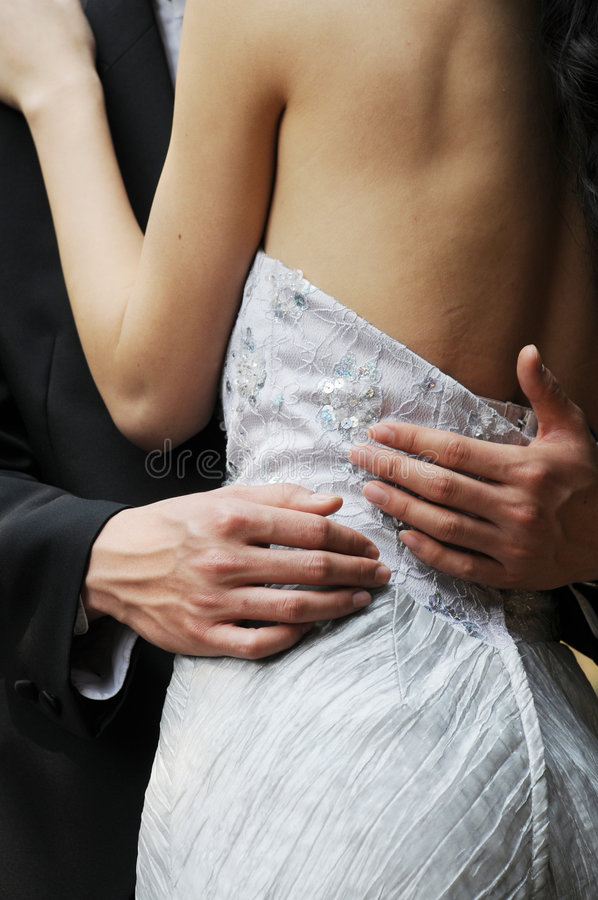 Young couple hugging royalty free stock photo
