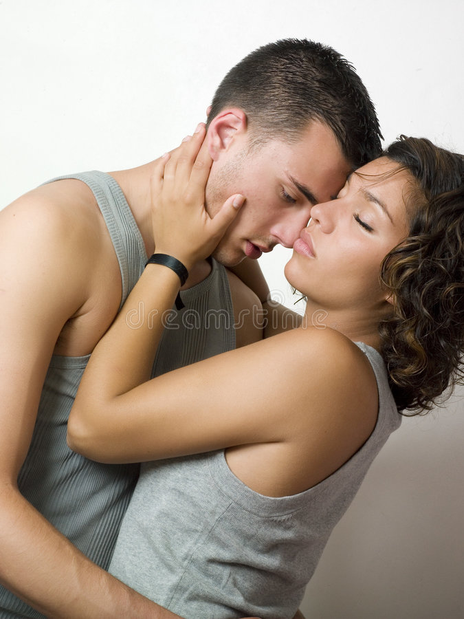 Download Young couple intimacy stock photo. Image of brunette, hugging - 7129324