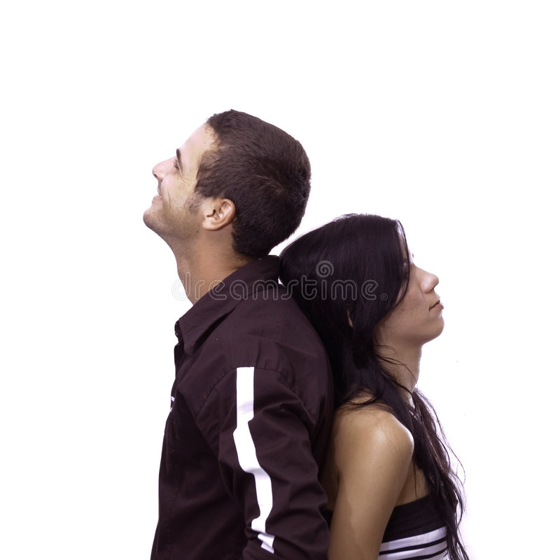 Young couple isolated royalty free stock image
