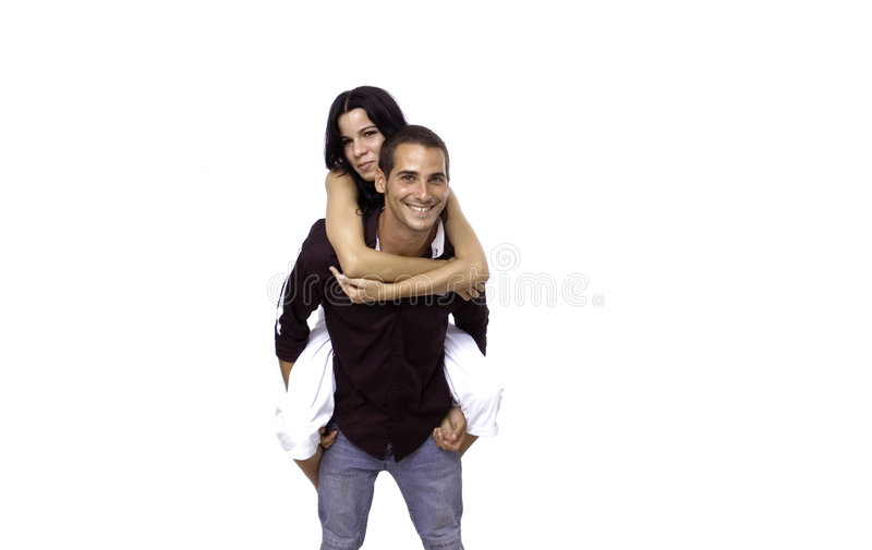 Young couple isolated royalty free stock photos