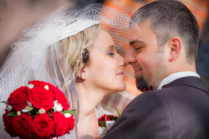 Young couple just married stock image
