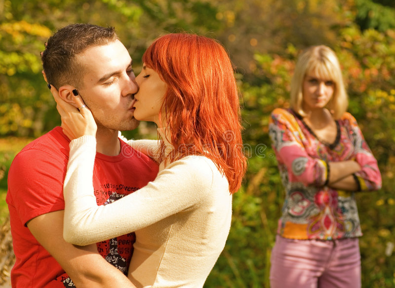 Download Young Couple Kissing Royalty Free Stock Photography - Image: 3276567