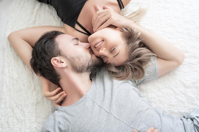 1 284 Young Couple Kissing Bedroom Photos Free Royalty Free Stock Photos From Dreamstime
