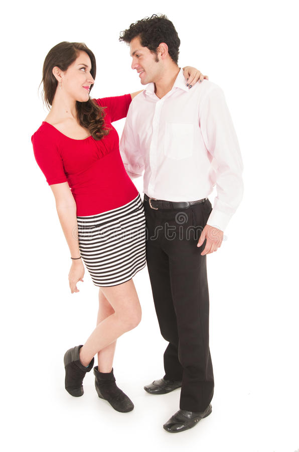 Young couple looking at each other in love royalty free stock image
