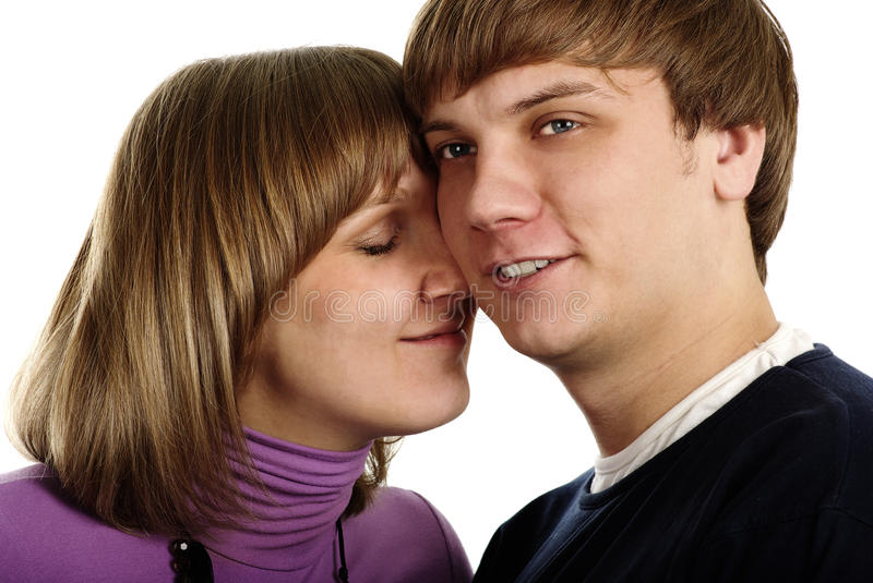 Download Young couple in love stock image. Image of isolated, belief - 12955785