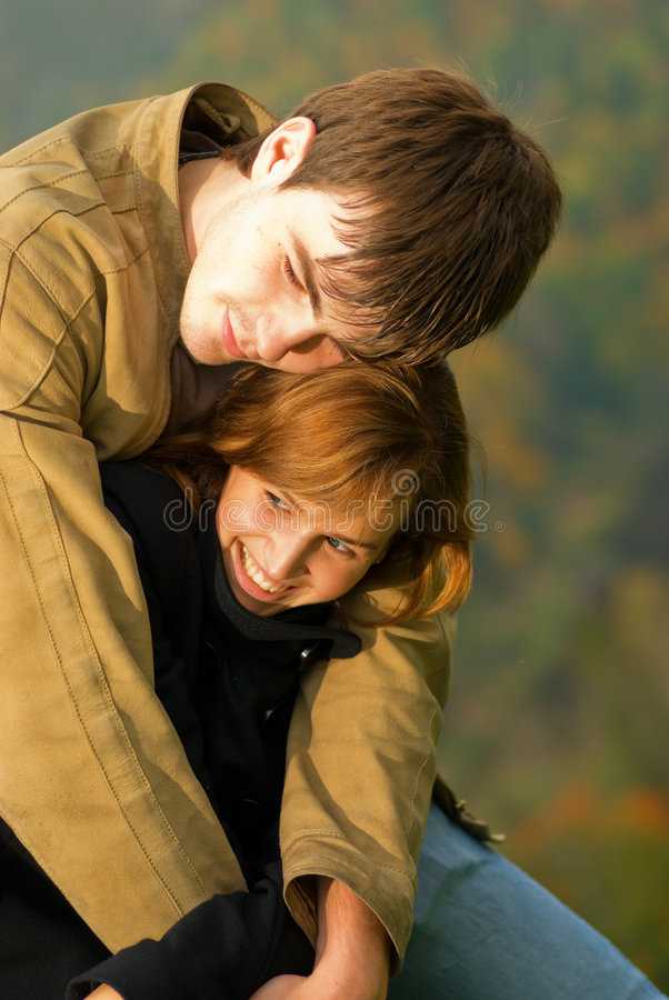 Download Young couple in love stock image. Image of happiness, leisure - 3307019