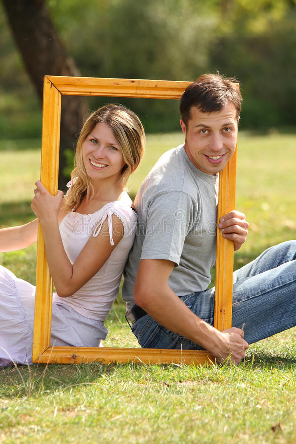 Download Couple In Love In The Frame Stock Photo - Image: 29733150