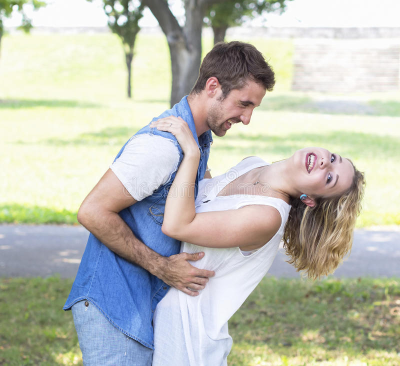 Young couple in love. Picture of young couple in love stock photo