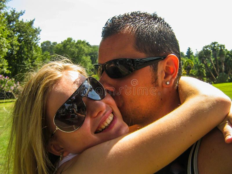 Young couple in love selfie royalty free stock image