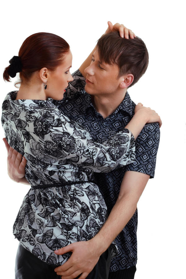 Download Young Couple In Love  Studio Shot Stock Photo - Image: 24449958