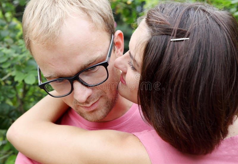 Young Couple Man And Woman Embracing Royalty Free Stock Image
