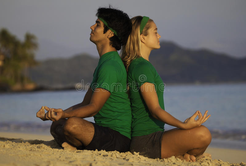 Download Young Couple Meditating Stock Image - Image: 18319181