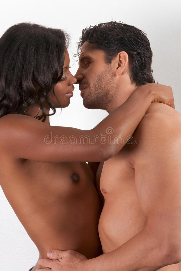 Young Couple Naked Man And Woman In Love Kissing Stock -2727