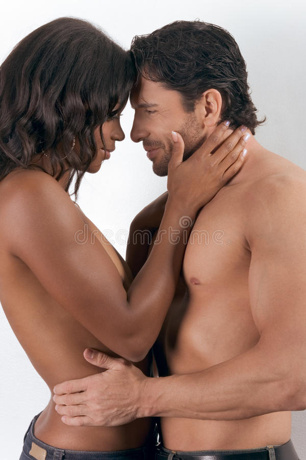 Young Couple Naked Man And Woman In Love Kissing Stock -4996