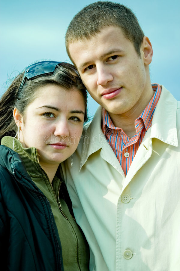 Download Young Couple outdoors stock photo. Image of close, couple - 1933604