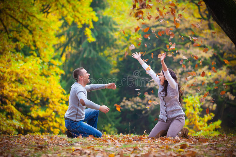 Download Young couple at the park stock photo. Image of clothes - 28115480
