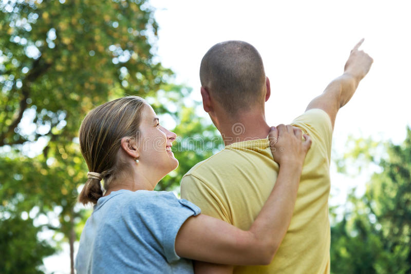 Download Young couple stock photo. Image of nice, garden, behind - 33030222