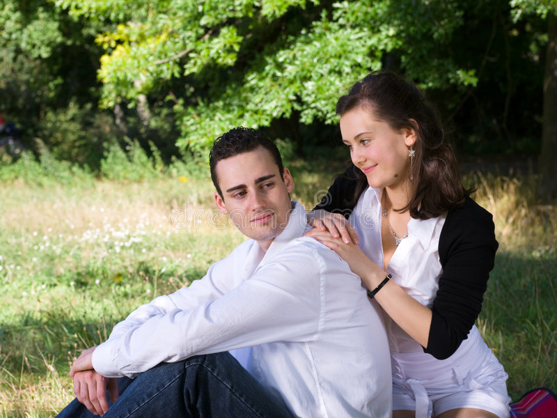 Download Young couple at park stock photo. Image of attractive - 6725602