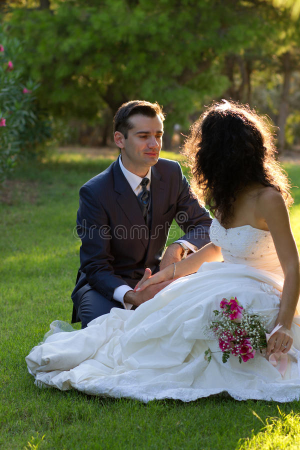 Download Young Couple In The Park After Wedding Stock Image - Image: 27320067