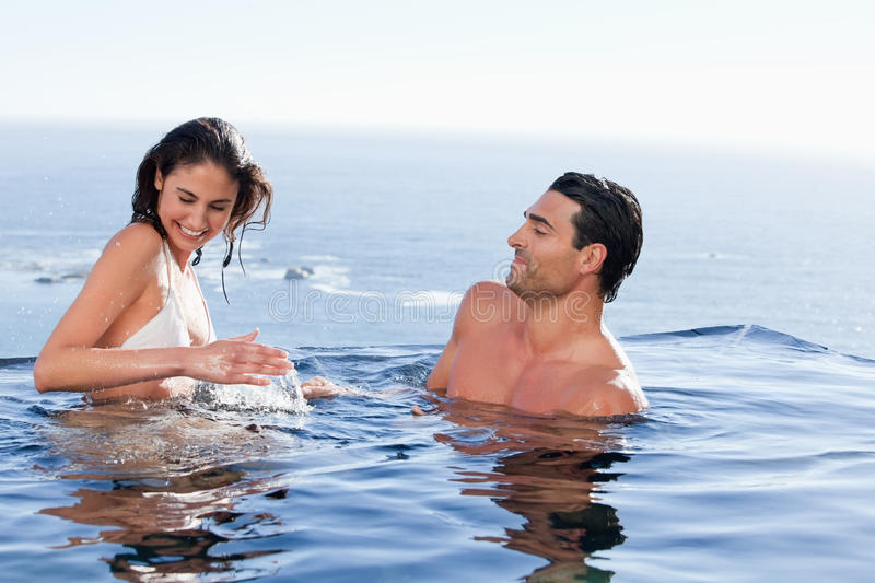 Download Young couple playing stock photo. Image of 34, appearance - 22236666