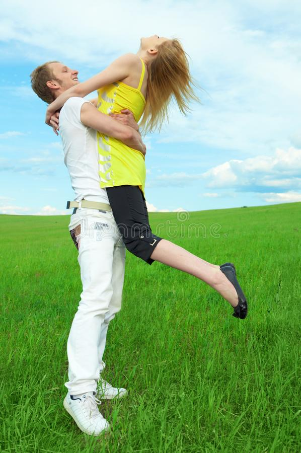 Young couple playing royalty free stock photos