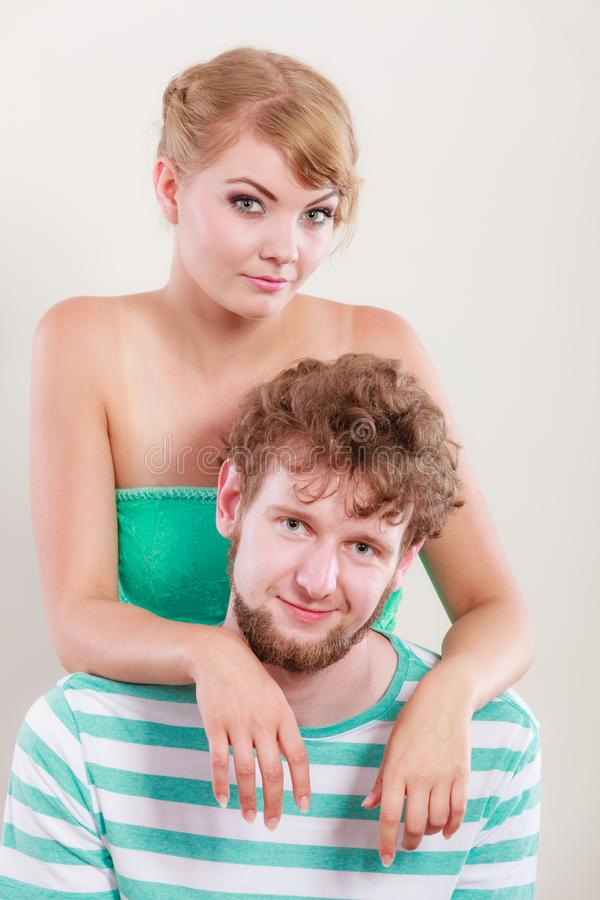 Young couple portrait stock photos