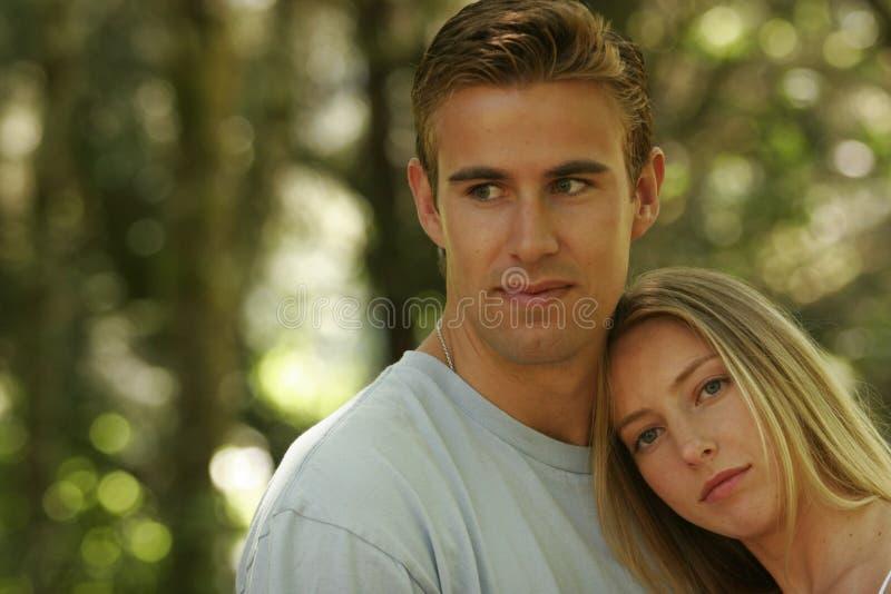Young couple portraits stock photos