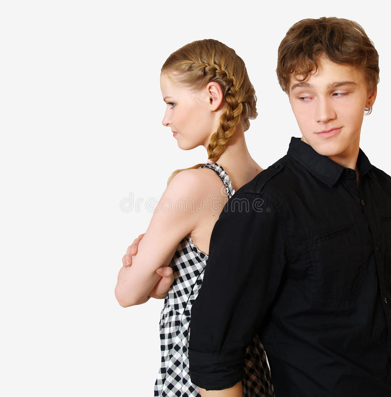 Young couple in problems royalty free stock photography