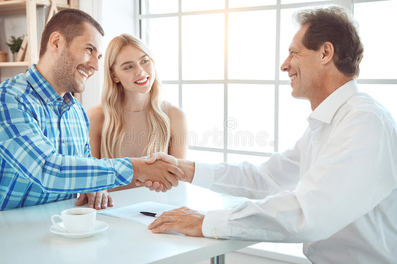 Young couple rent apartment together real estate royalty free stock photo