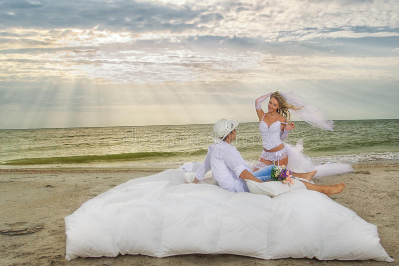 Download Young Couple Resting In Bed Stock Image - Image of allure, groom: 27473705