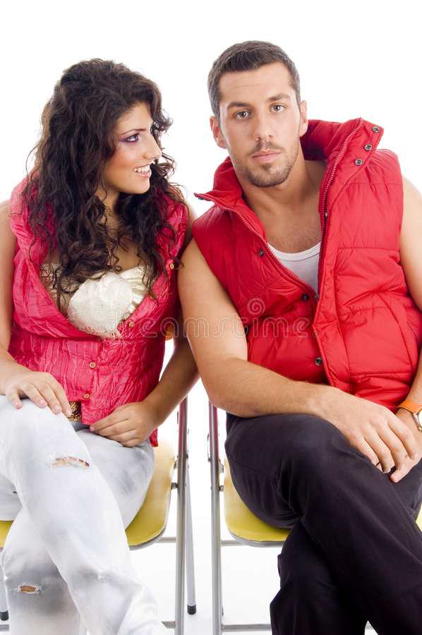 Download Young Couple Resting On Chair Stock Image - Image: 7360943